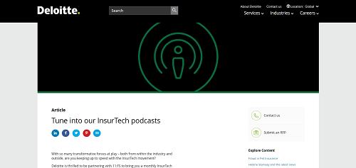 Deloitte InsurTech Podcast