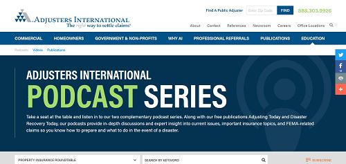 Adjusters International Podcast Series